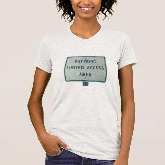 Camiseta Área limitada del acceso