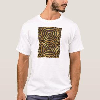 Camiseta Arte abstracto de la onda de oro del oro en el