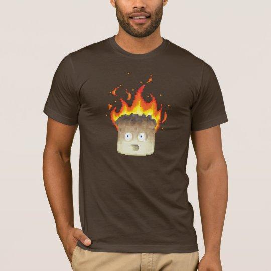Camiseta Arte ardiente del pixel de la melcocha