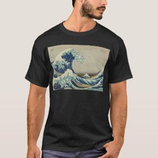 Camiseta Arte asiático - la gran onda de Kanagawa