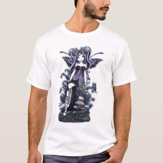 Camiseta Arte azul violeta de la hada de la mariposa de
