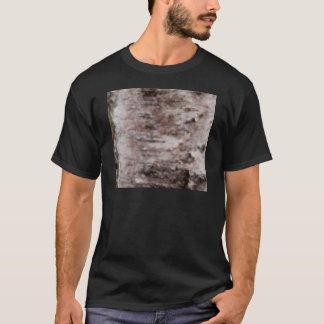 Camiseta arte blanco escamoso de la corteza