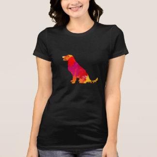 Camiseta Arte colorido del mascota de la silueta del perro