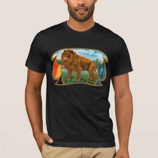 Camiseta Arte de la etiqueta del cigarro del vintage, león