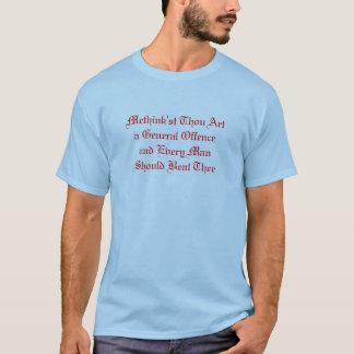 Camiseta Arte de mil de Methink'st una ofensa general