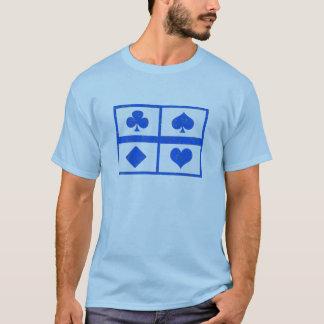 Camiseta Arte del símbolo del póker - club de fans -