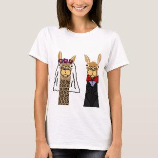 Camiseta Arte divertido del boda de novia y del novio de la