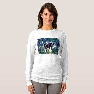 Camiseta Arte juguetón de sensación del caballo