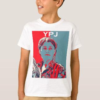 Camiseta Arte kurdo 2 del combatiente de la hembra YPG
