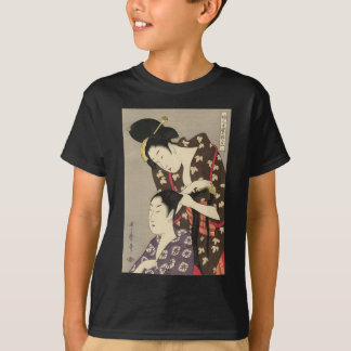 Camiseta Arte para mujer de Utamaro Yuyudo Ukiyo-e de la