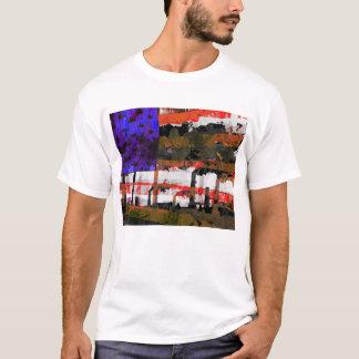 Camiseta Arte pop de la contaminación de la bandera