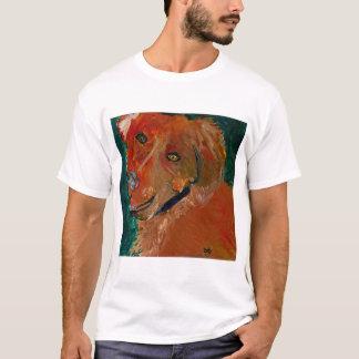 Camiseta Arte tonal Zach del perro de la te de la raya