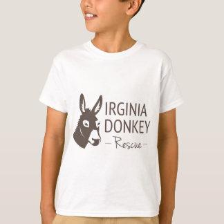 Camiseta Artículos del logotipo del rescate del burro de