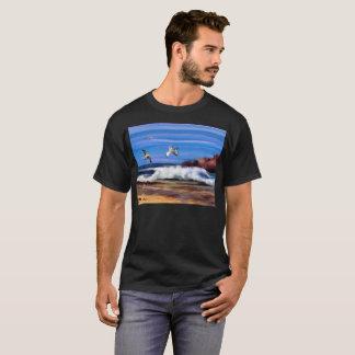 Camiseta artística de la visión oceánica