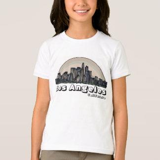 Camiseta artística del horizonte de los chicas de