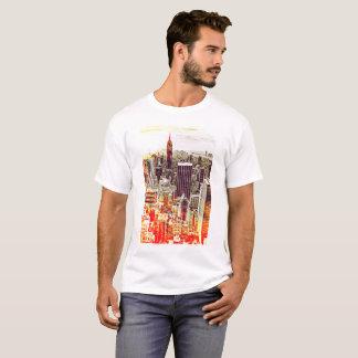 Camiseta artsy del horizonte de Nueva York