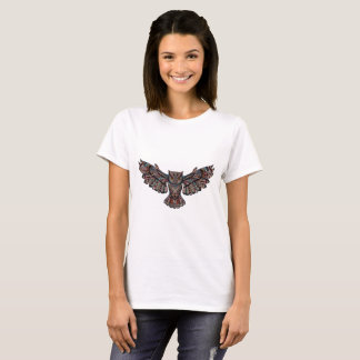 Camiseta artsy metálica del búho