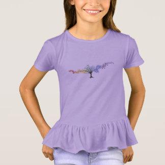 Camiseta Árvore de borboletas coloridas