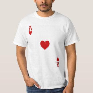 Camiseta As del naipe de los corazones
