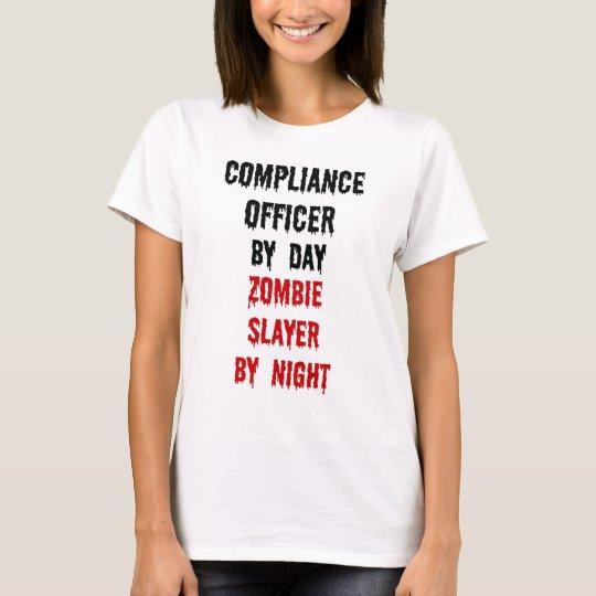 Camiseta Asesino del zombi del oficial de la conformidad