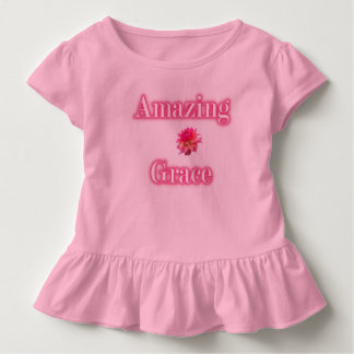 Camiseta asombrosa del volante del niño de la