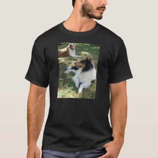 Camiseta áspera de los collies