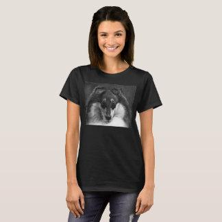 Camiseta áspera del collie del desplome