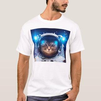 Camiseta Astronauta del gato - gatos en espacio - espacio