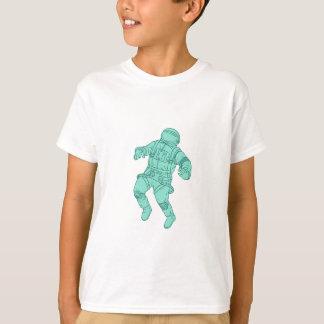 Camiseta Astronauta que flota en el dibujo del espacio
