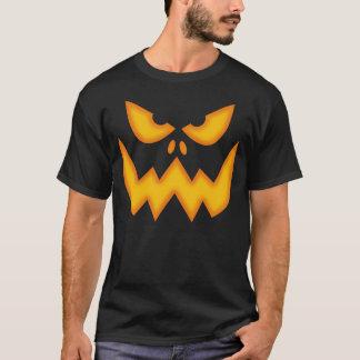 Camiseta asustadiza de la cara de la calabaza