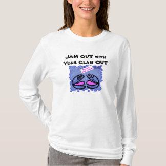 Camiseta ATASCO HACIA FUERA con su almeja HACIA FUERA