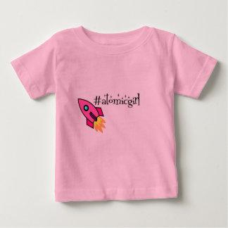 Camiseta atómica del bebé del chica