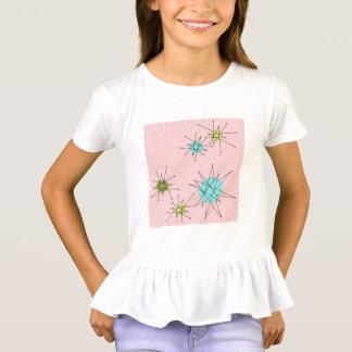 Camiseta atómica icónica rosada de Starbursts