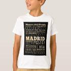 Camiseta Atracciones y lugares famosos de Madrid, España