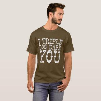 "Camiseta ""Atrevimiento triple del perro """
