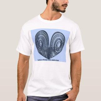 Camiseta Attractor de Lorenz con el silla de montar-foco