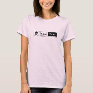 Camiseta Audra - rosa de fuego corto de la manga L