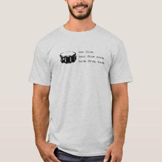 Camiseta auge, tambor, auge