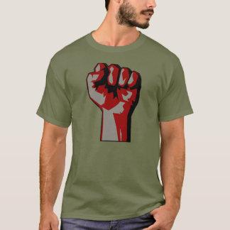 Camiseta aumentada revolucionario de la protesta