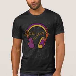 Camiseta auricular de DJ del color de la música