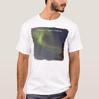Camiseta Aurora boreal suave; Personalizable
