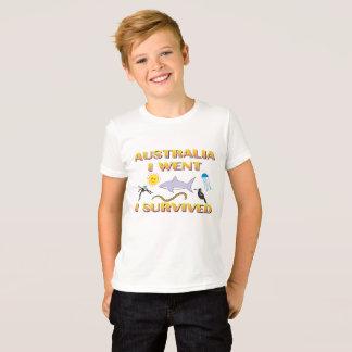Camiseta Australia, fui, yo sobreviví