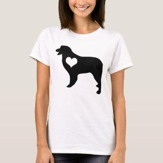 Camiseta australiana del corazón del pastor
