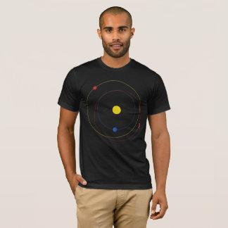 Camiseta Automóvil descubierto mínimo en órbita del espacio