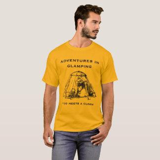 Camiseta Aventuras en Glamping.  Edición del oro