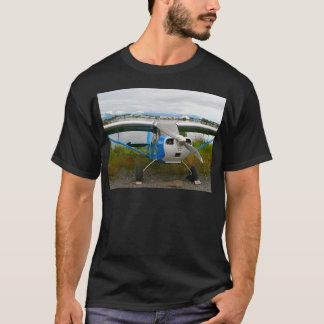 Camiseta Aviones de ala alta, azul y blanco, Alaska