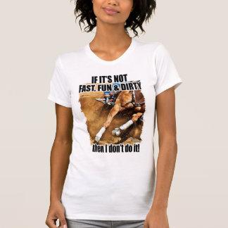 Camiseta Ayunan, la diversión y el competir con sucio del