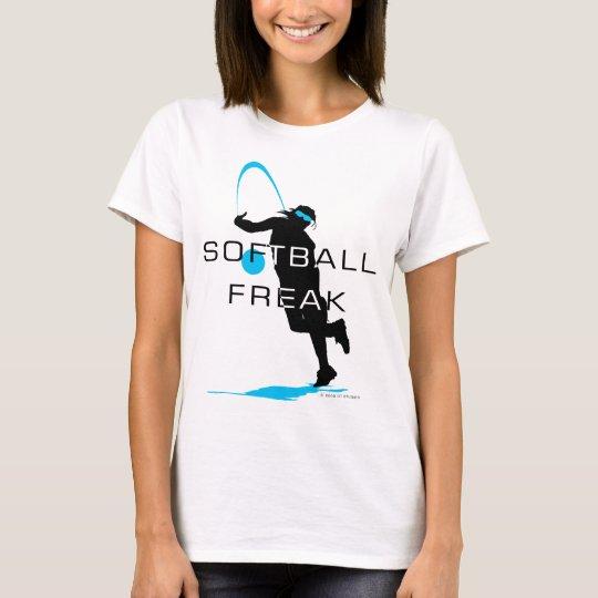 Camiseta azul anormal del softball de la jarra del