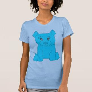 Camiseta azul clara de las mujeres del oso de la