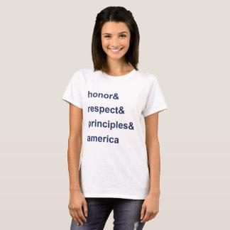 Camiseta Azul de América de los principios del respecto del